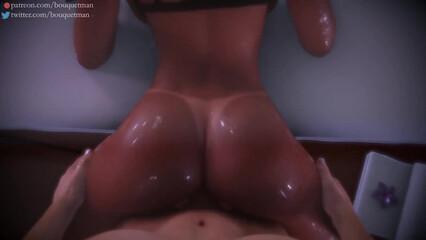 Анимационное порно с красивой блондинкой в позе раком